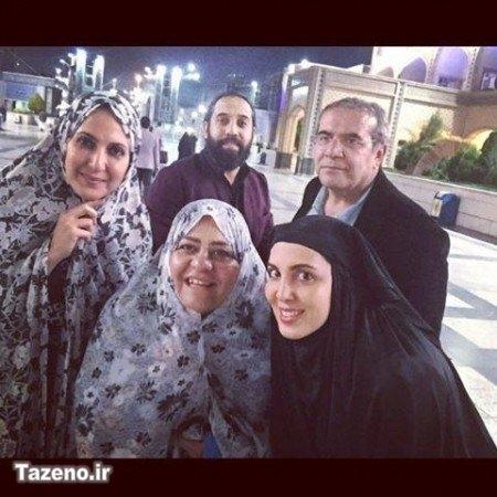 عکس دیده نشده از لیلا بلوکات با چادر در حرم امام رضا گالری عکس